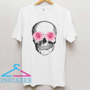 Skull with flowers T shirt