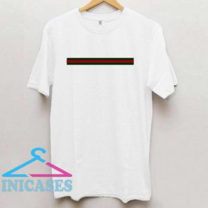 Striped Green And Red T Shirt
