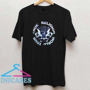 True Religion Crew Neck World Tour T Shirt