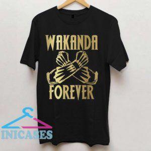 Wakanda Forever Salute Gold Shirt Black Panther T shirt