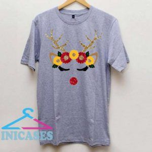 reindeer with flower crown T Shirt