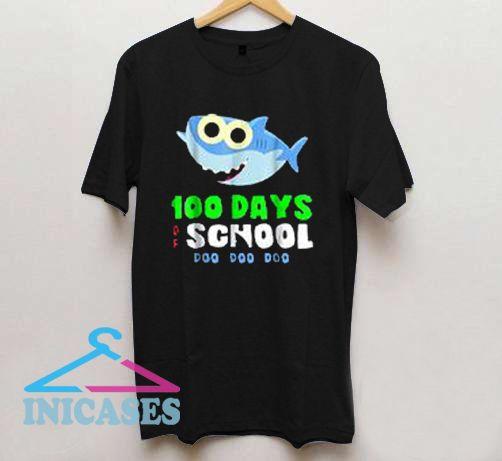 100 Days Of School Baby Shark Doo Do T Shirt