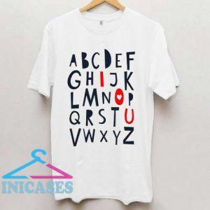 ABC I Love You T Shirt