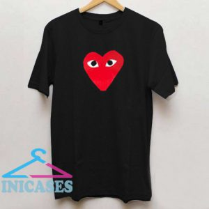 Cute Red Heart Graphic T Shirt