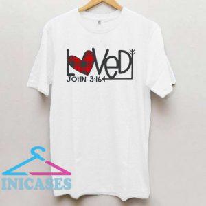 Loved 3:16 Buffalo Plaid Heart T Shirt
