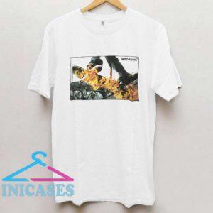 Motor oil flame skateboard Fire T Shirt