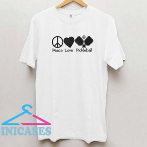 Peace love pickleball T shirt