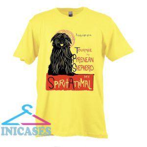 Pyrenean Shepherd Art Pyrenees Dog T Shirt
