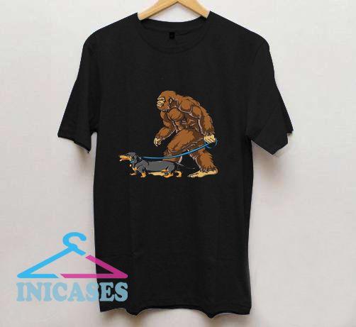 Bigfoot Dachshund T Shirt