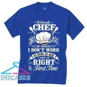 Female Chef Cook Cooker I Like Love Tee T Shirt