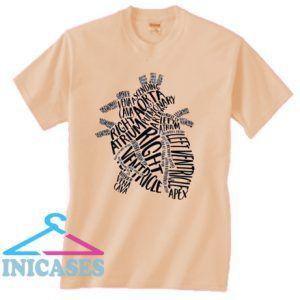 Nursing Anatomical Heart T shirt