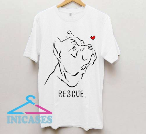 Rescue Pitbull T shirt