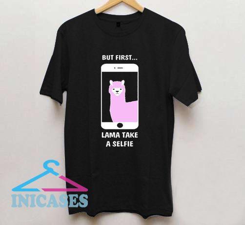 Selfie Llama T Shirt
