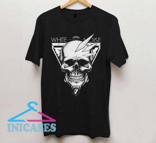 White Noise Skull T Shirt