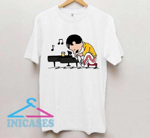 Freddie Peanuts Playing Piano T shirt