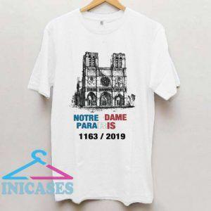 Paris France City Notre Dame T Shirt