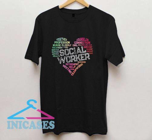 Social Worker Word Cloud T Shirt