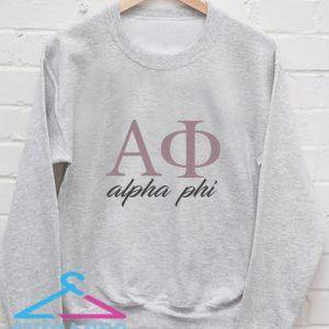 Alpha phi Sweatshirt Men And Women