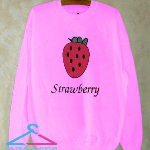 Pink Strawberry Sweatshirt Men And Women