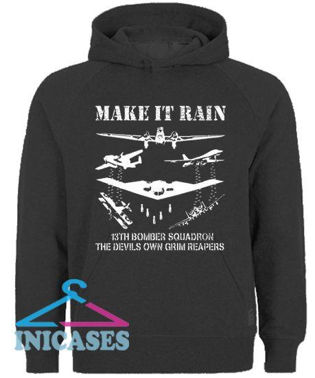 Make it Rain Bombing squadron Hoodie pullover