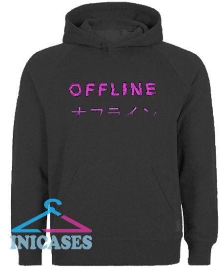 Offline Aesthetic Vaporwave Hoodie pullover