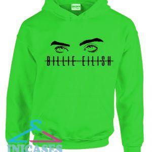 Billie Elish eyes Green Hoodie pullover
