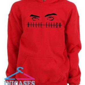 Billie Elish eyes Red Hoodie pullover