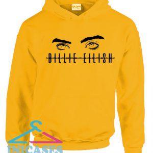 Billie Elish eyes Yellow Hoodie pullover