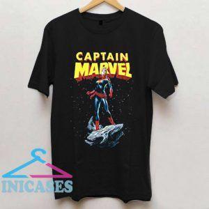 Captain Marvel Comic Art T Shirt