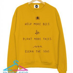 Help More Bees Save The Bees Sweatshirt Men And Women