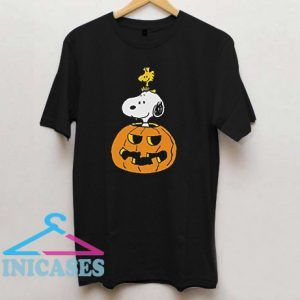 Peanuts Halloween Snoopy and Woodstock T Shirt