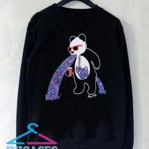 Riot Society Panda Puke Crew Sweatshirt Men And Women