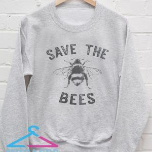Save The Bees Light Grey Sweatshirt Men And Women