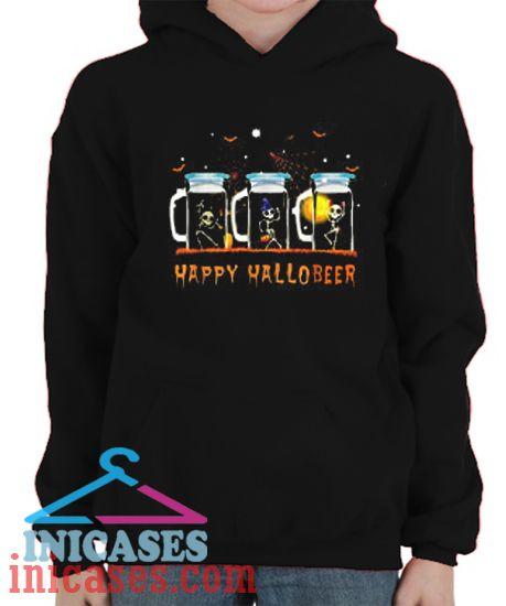 Skeleton happy Hallobeer Halloween Hoodie pullover