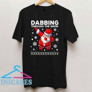 Dabbing Through The Snow Santa Dab Christmas T Shirt