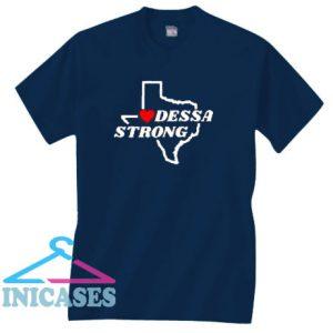 Odessa Strong Texas Flag Map T Shirt