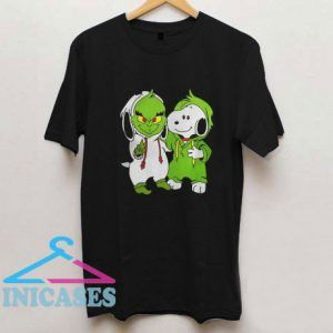 Snoopy And Grinch Fushion Peanuts How The Grinch Stole Christmas Fans T Shirt