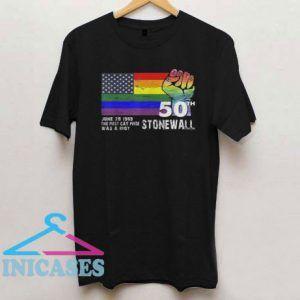 90's Style Stonewall Riots 50th NYC Gay Pride LBGTQ Rights 2019 T Shirt