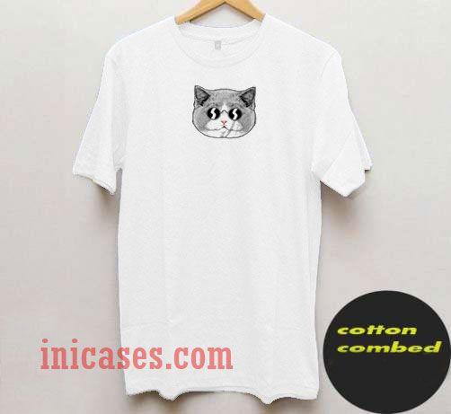 Cat Ilustration T Shirt