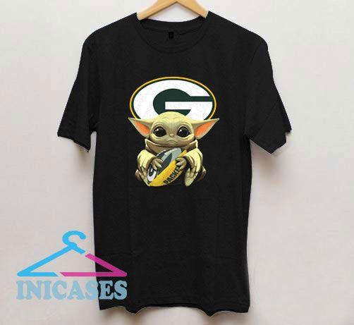Green Bay Packers Baby Yoda T Shirt
