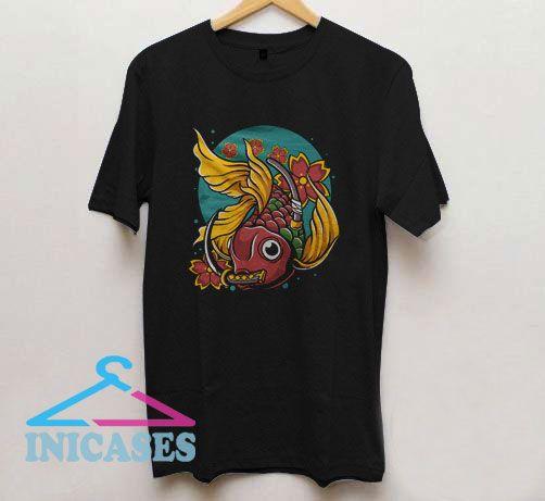 Japanese Goldfish Vector T Shirt