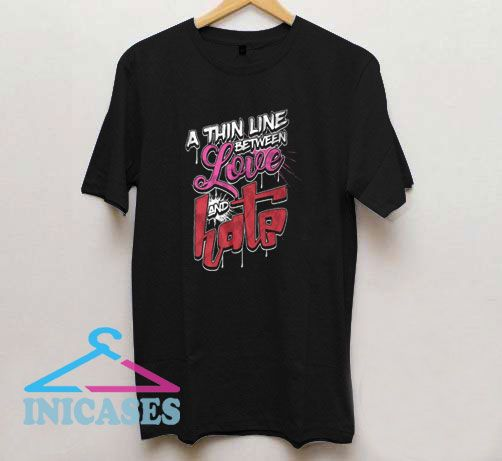 Love Hate Vector T Shirt