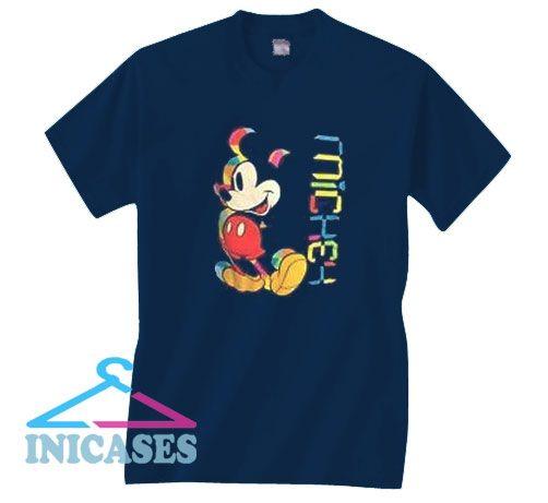 Mickey Mouse Retro Rainbow T Shirt