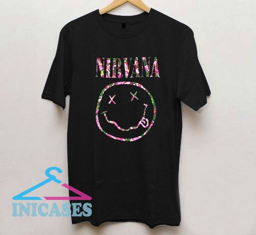 Nirvana Floral Smiley T Shirt