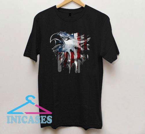 Overlay Eagle Flag T Shirt