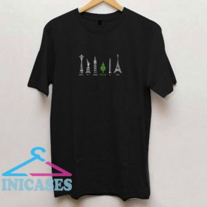 Portlannd City Tree T Shirt