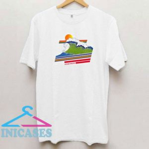 Retro Rainbow Ocean Pasific T Shirt