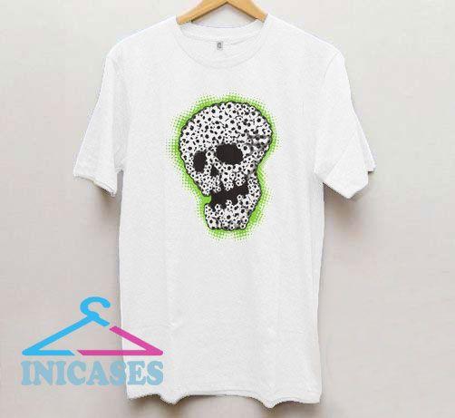 Soccer Skull Grapic T Shirt