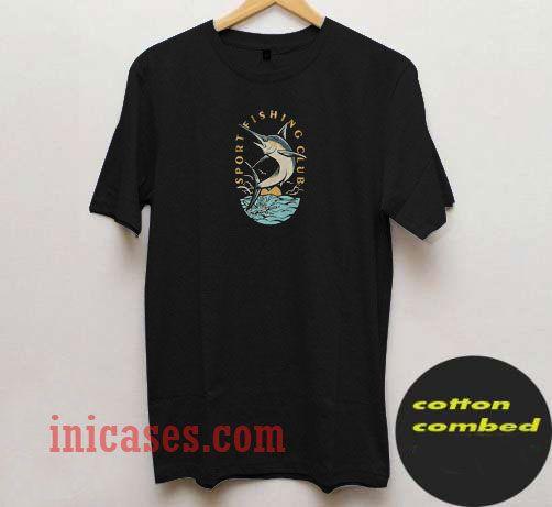 Sport Fishing Club Vector T Shirt