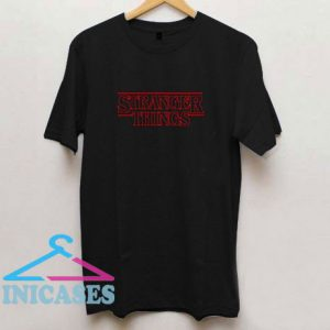 Stanger Things Black T Shirt